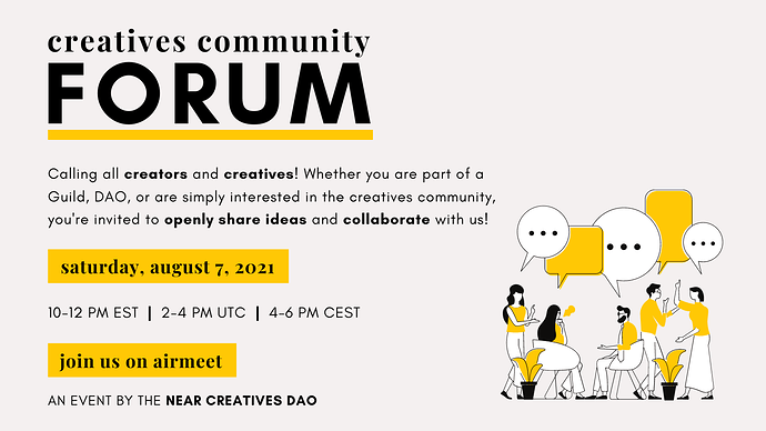 Creatives Community Forum Event Flyer - Telegram and Twitter (2)